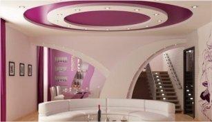 Изготовление матовых и сатиновых натяжных потолков